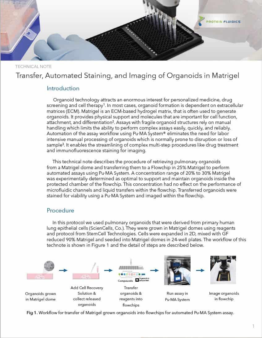 Tech Note1-Matrigel Grown organoids